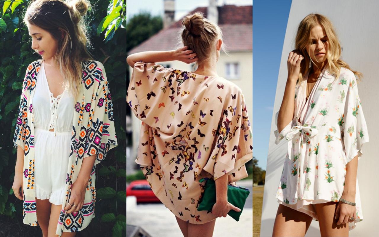collage kimono pentru vara