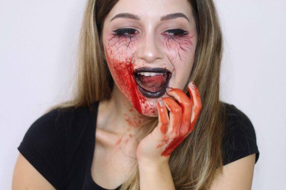 Machiaj pentru Halloween: Vampir. Tutorial video pas cu pas